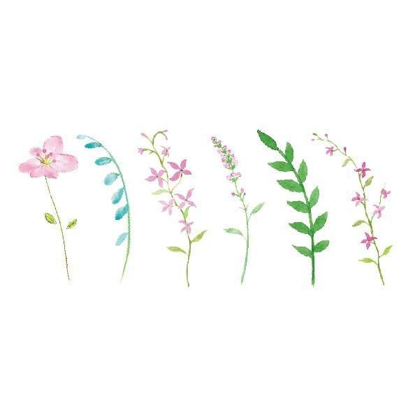 itGirl Shop FRAGILE PLANTS FLOWERS TEMPORARY TATTOOS