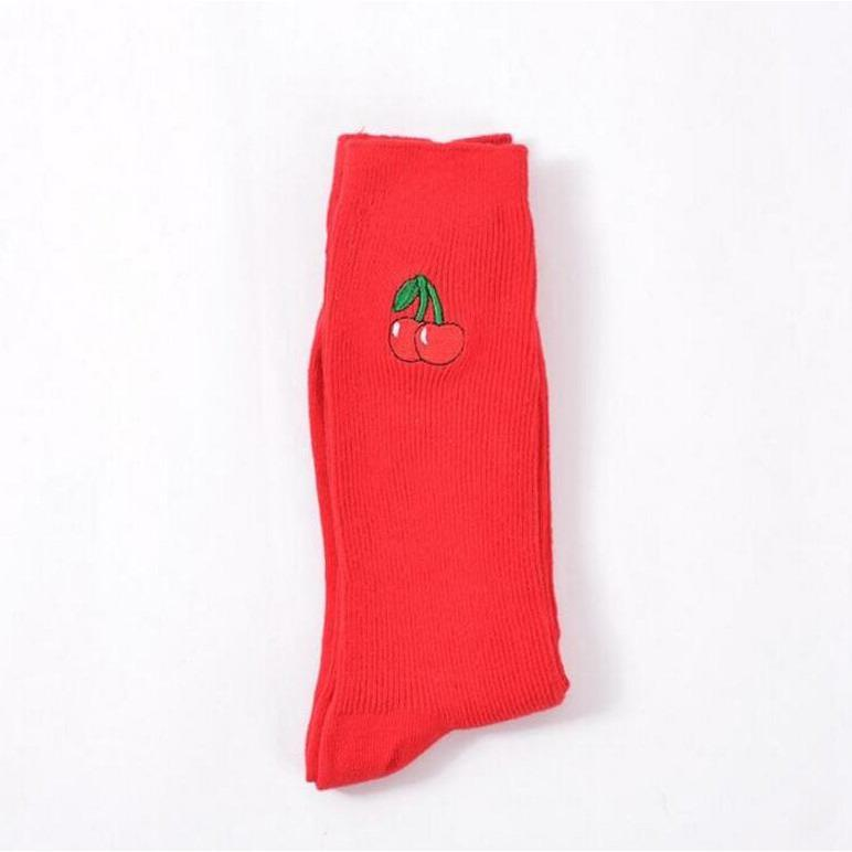 Buy Cheap Aesthetic Clothing FRUIT EMBROIDERIES COTTON SOCKS Sale 30% OFF itGirl Shop itgirlclothing.com