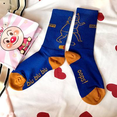 itGirl Shop FUNNY CARTOON PRINTED COTTON LONG SOCKS