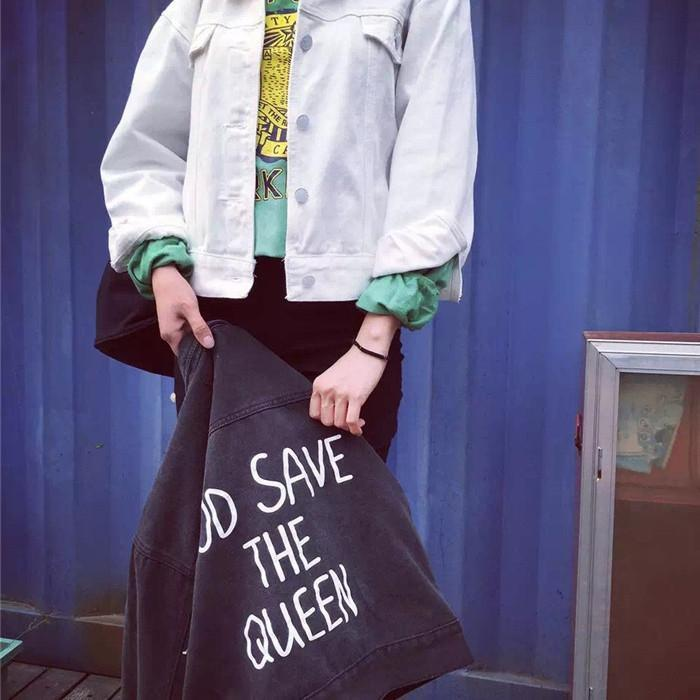 Buy Cheap Aesthetic Clothing GOD SAVE THE QUEEN DENIM JACKET Sale 30% OFF itGirl Shop itgirlclothing.com