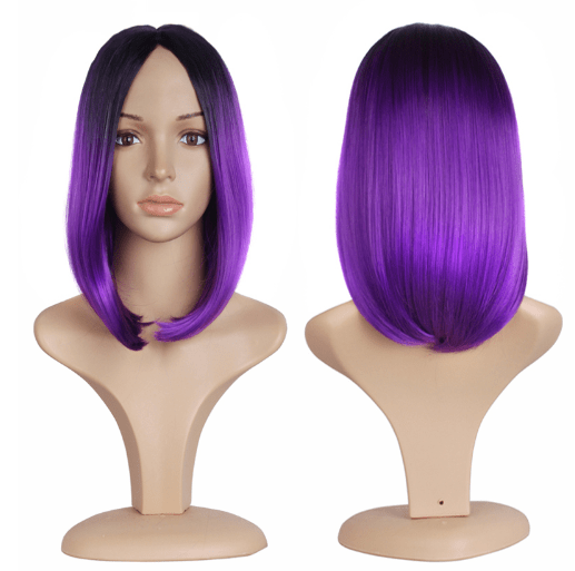 itGirl Shop GRADIENT OMBRE SHOULDER LENGHT COLORFUL FAUX HAIR WIG