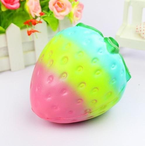 itGirl Shop GRADIENT STRAWBERRY SQUISHY SATISFIED RUBBER ANTISTRESS HAND TOY