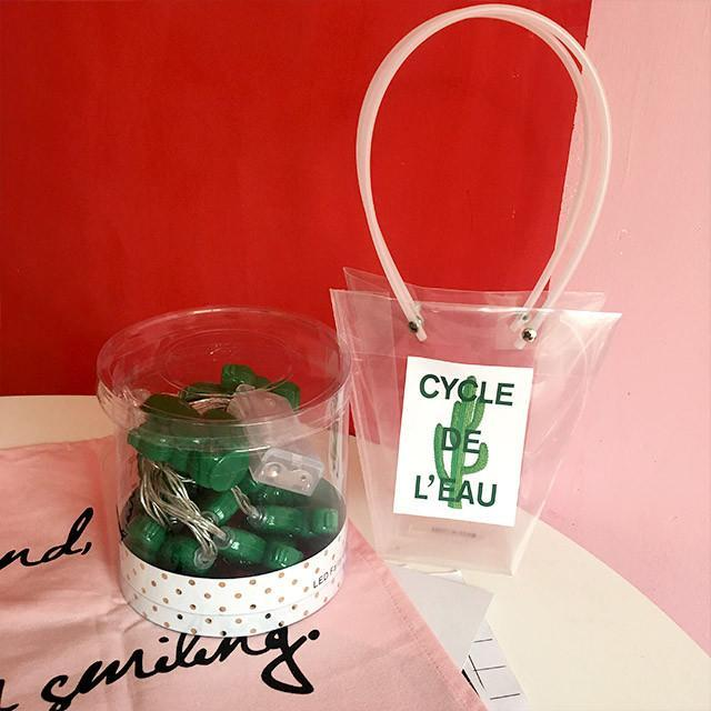 itGirl Shop GREEN CACTUSES DECOR GARLAND Aesthetic Apparel, Tumblr Clothes, Soft Grunge, Pastel goth, Harajuku fashion. Korean and Japan Style looks