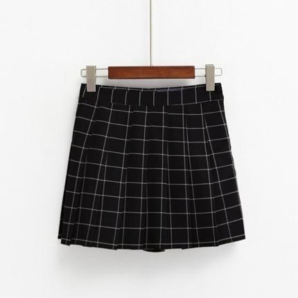 itGirl Shop GRID SCHOOL SHORT PLEATED SKIRT