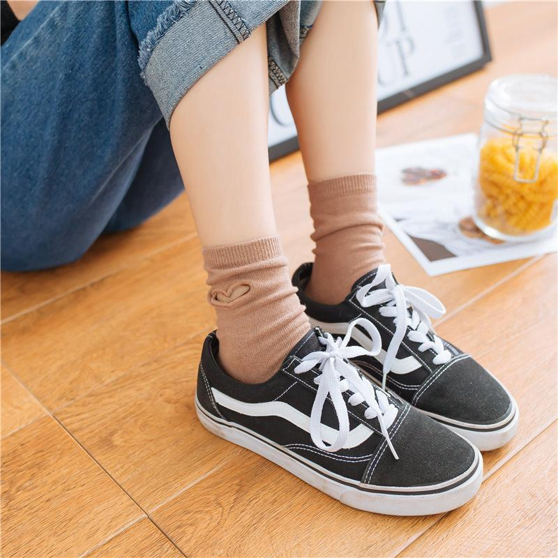 itGirl Shop HEART HOLES ANKLE KAWAII COLLEGE STYLE SOCKS