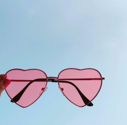 itGirl Shop HEART SHAPE COLORFUL AND GRADIENT LOLITA SUNGLASSES Aesthetic Apparel, Tumblr Clothes, Soft Grunge, Pastel goth, Harajuku fashion. Korean and Japan Style looks