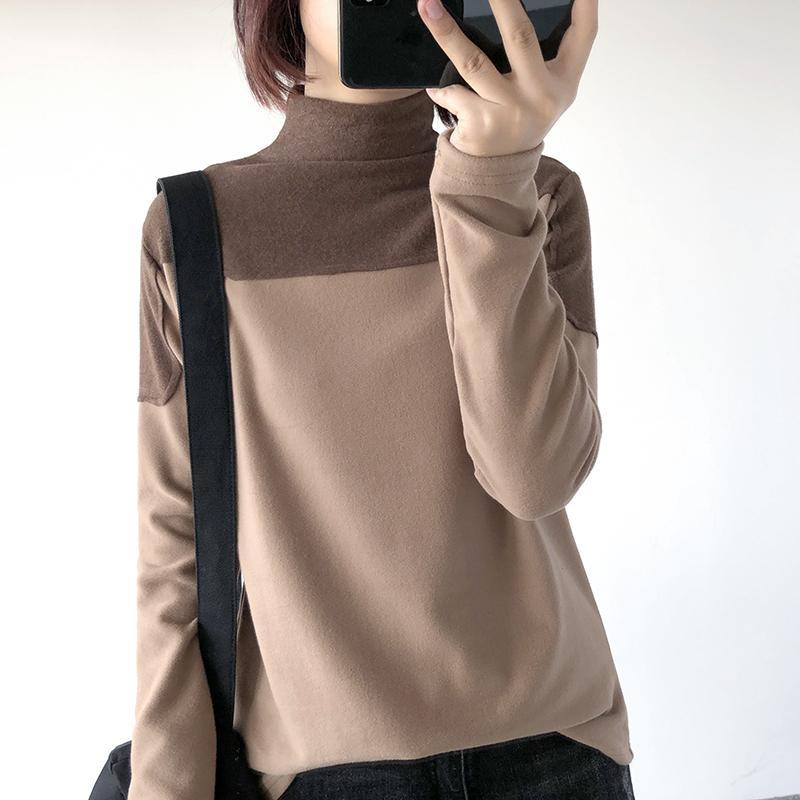 itGirl Shop HIGH COLLAR SHOULDERS PADDED LONG SLEEVED SHIRT