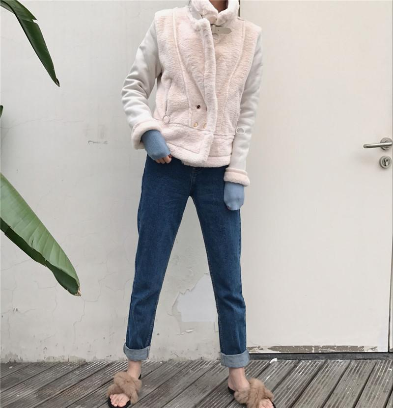 itGirl Shop HIGH NECK FLUFFY FAUX FUR PINK WHITE BELTS ZIPPER OUTWEAR JACKET Aesthetic Apparel, Tumblr Clothes, Soft Grunge, Pastel goth, Harajuku fashion. Korean and Japan Style looks