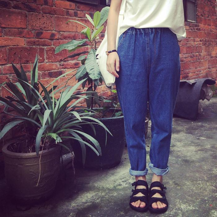 itGirl Shop HIGH WAIST LOOSE JEANS PANTS Aesthetic Apparel, Tumblr Clothes, Soft Grunge, Pastel goth, Harajuku fashion. Korean and Japan Style looks