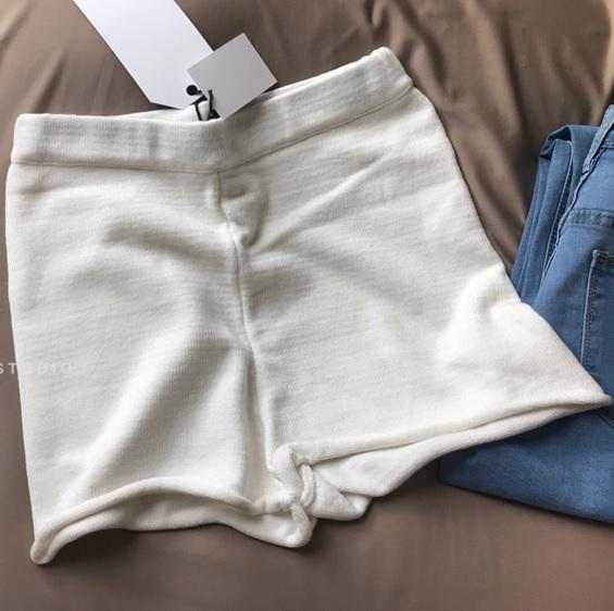 itGirl Shop HIGH WAIST STRETCH SOLID COLORS RETRO SHORTS