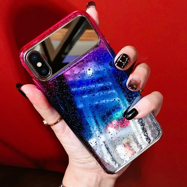 itGirl Shop HOLOGRAPHIC TRANSPARENT BUBBLES MIRROR IPHONE COVER CASE