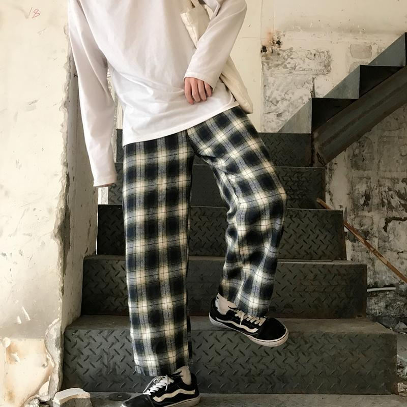 itGirl Shop HUGE TARTAN PLAID OVERSIZED UNISEX GRUNGE PANTS