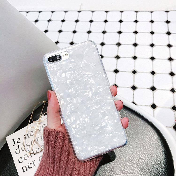 itGirl Shop ICE CRYSTALIZED MARBLE TRANSPARENT PATTERN IPHONE COVER
