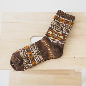 itGirl Shop INDIE BOHO HIPSTER GEOMETRIC PATTERNS ANKLE SOCKS