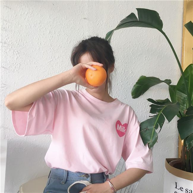 itGirl Shop JUICY LEMONADE BACK PRINT PINK OVERSIZED AESTHETIC KAWAII T-SHIRT