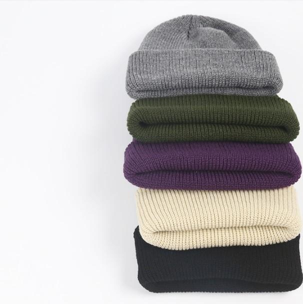 itGirl Shop KNIT SOLID COLORS COMFY BEANIE HAT