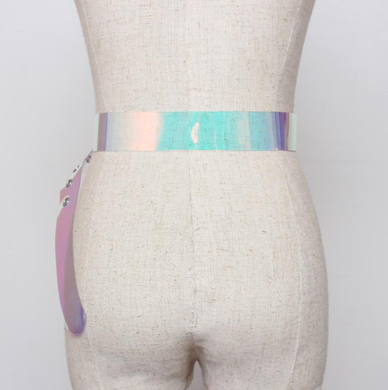 itGirl Shop LASER TRANSPARENT HOLOGRAPHIC BELT