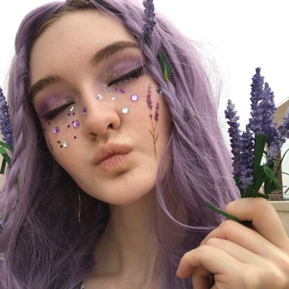 itGirl Shop LAVENDER PLANT FLOWERS TEMPORARRY TATTOOS
