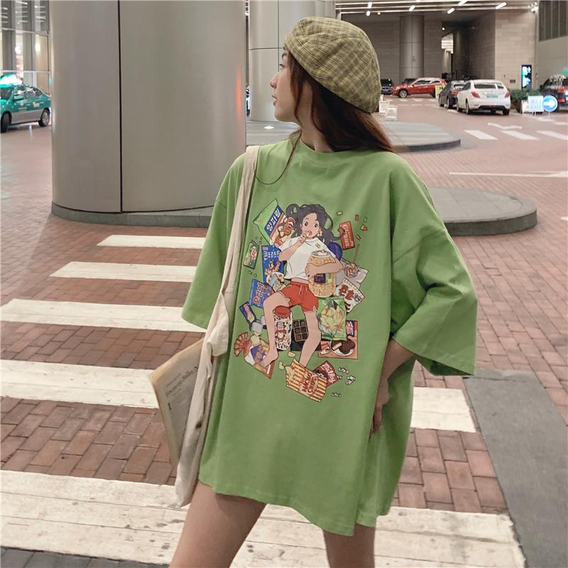itGirl Shop LAZY GIRL PRINTED TEENAGE FASHION OVERSIZED T-SHIRT
