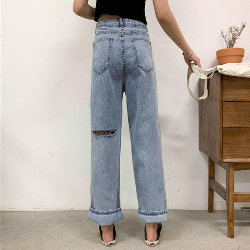 itGirl Shop LIGHT BLUE 90s AESTHETIC STRAIGHT DENIM JEANS