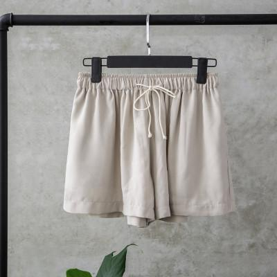 itGirl Shop LIGHT ELASTIC WAIST SUMMER COLORS SHORTS