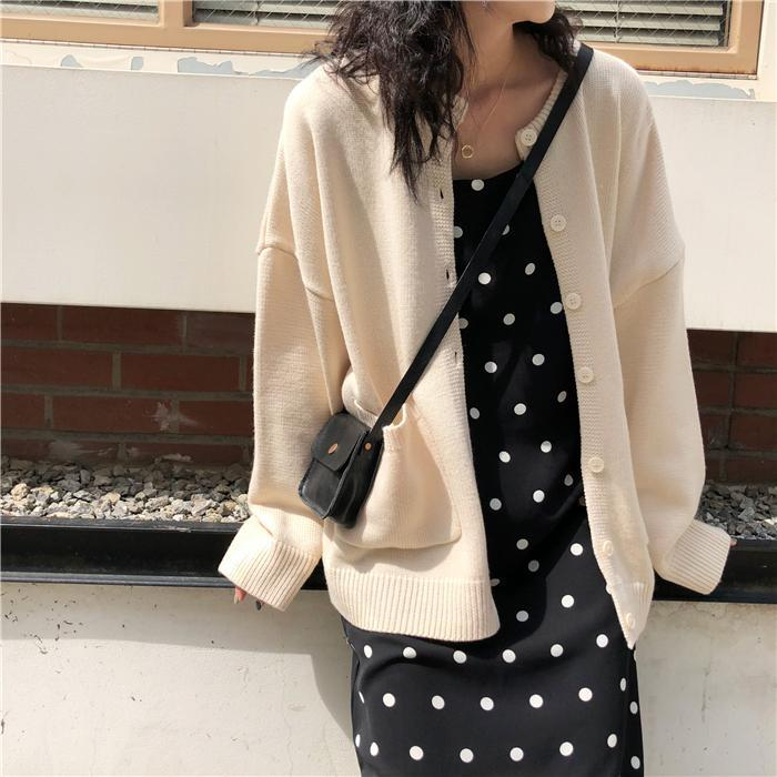 itGirl Shop LONG SLEEVED CARDIGAN SWEET COLORS SWEATER