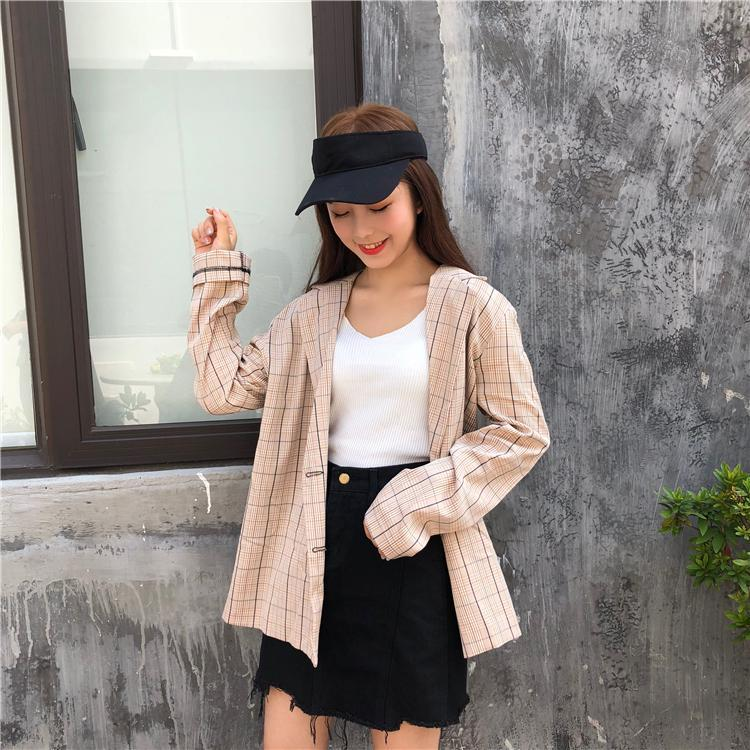 itGirl Shop LOOSE LONG SLEEVE LAPEL COLLAR BLAZER