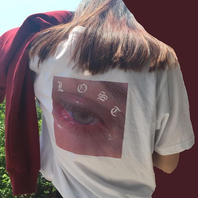 itGirl Shop LOST EYE PRINT COTTON TSHIRT Aesthetic Apparel, Tumblr Clothes, Soft Grunge, Pastel goth, Harajuku fashion. Korean and Japan Style looks