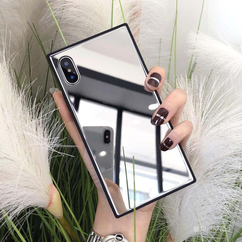 MAKEUP MIRROR SHARP BLACK EDGES IPHONE COVER CASE