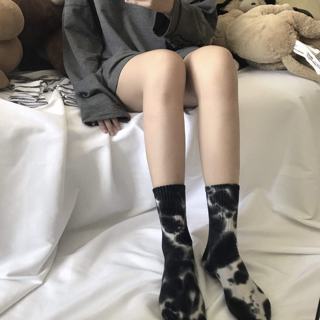 itGirl Shop MARBLE TIE DYE PATTERN AESTHETIC SOCKS