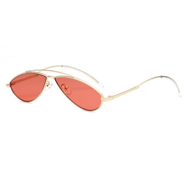 itGirl Shop METALLIC AVIATOR FRAME DROP COLORFUL SUNGLASSES