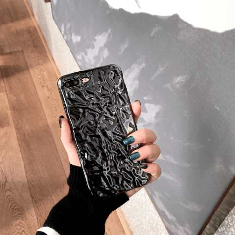 itGirl Shop METALLIC MELTED SILVER IPHONE COVER