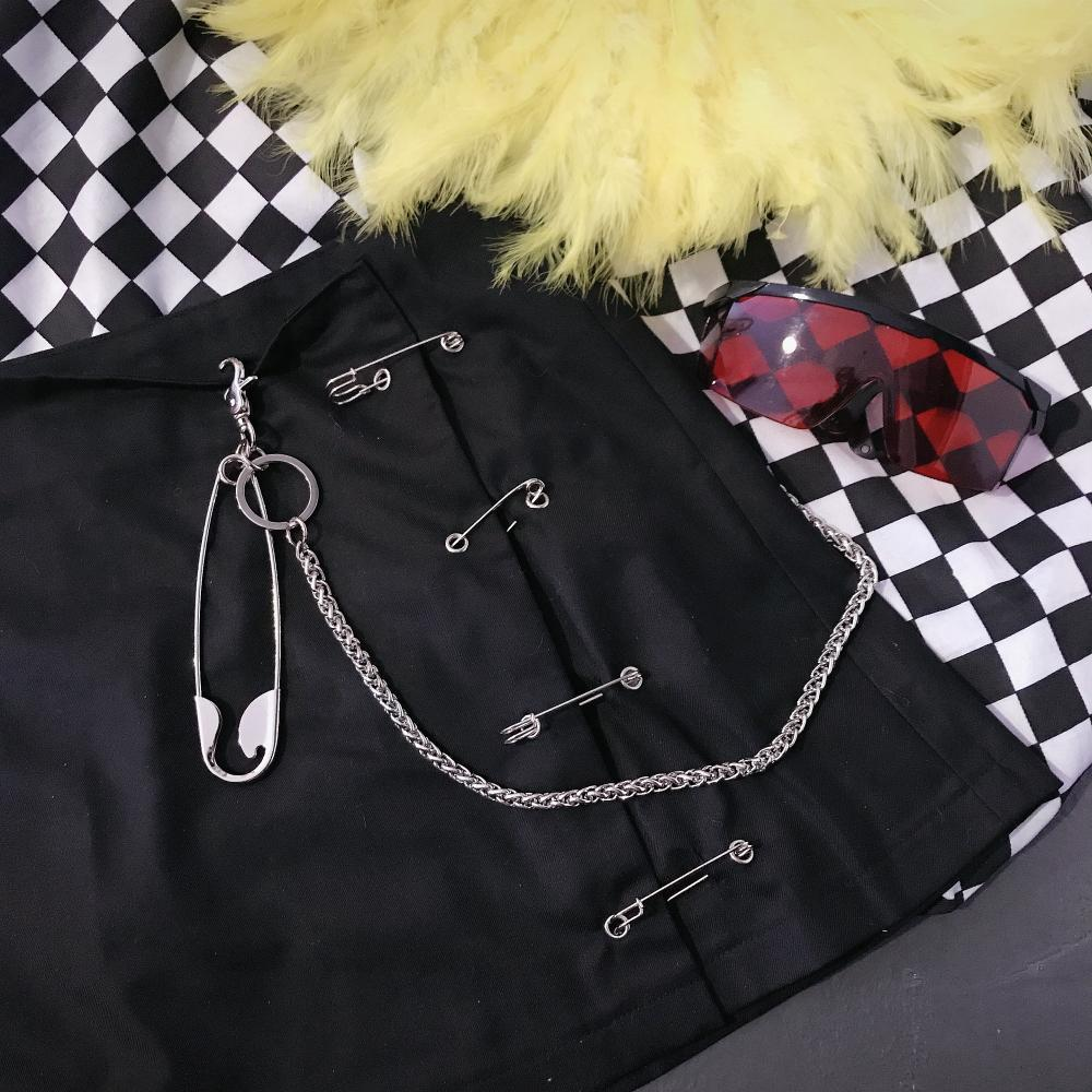 itGirl Shop METALLIC PUNK STREEN FASHION CROSSES CHAINS