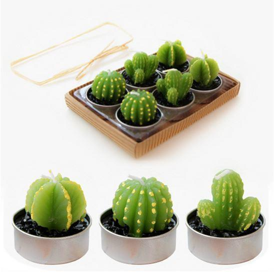 itGirl Shop MINI CACTUS SET 6 CANDLES Aesthetic Apparel, Tumblr Clothes, Soft Grunge, Pastel goth, Harajuku fashion. Korean and Japan Style looks