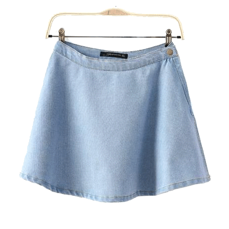 itGirl Shop MINI SKIRT DENIM BLUE