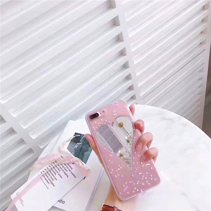 itGirl Shop MIRROR HEART GLITTER IPHONE COVER