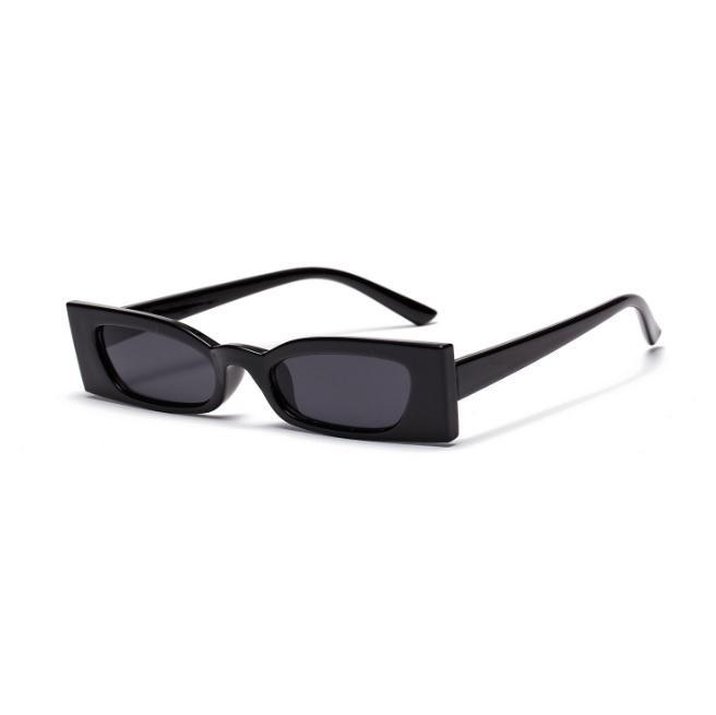 itGirl Shop NARROW RECTANGULAR SHARP COLORFUL RETRO PLASTIC SUNGLASSES