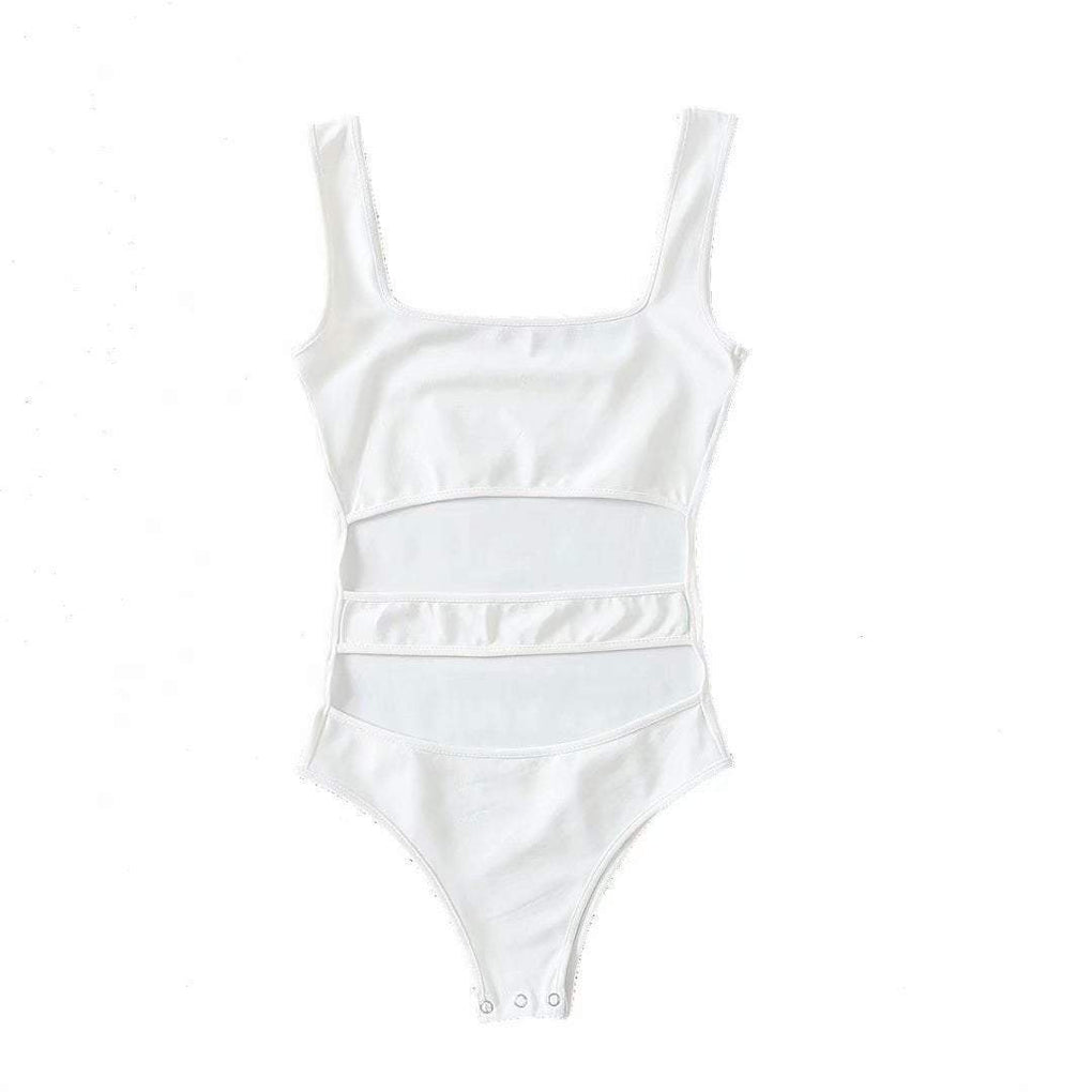 itGirl Shop OPEN BELLY SUMMER THIN SLIM BODYSUIT