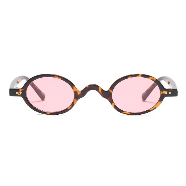 itGirl Shop OVAL COLORFUL PLASTIC FRAME TRENDY SUNGLASSES