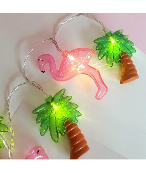 itGirl Shop PALMS WITH FLAMINGOS DECOR GARLAND