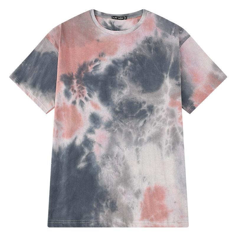 itGirl Shop PASTEL COLORS TIE DYE PATTERN OVERSIZED T-SHIRT