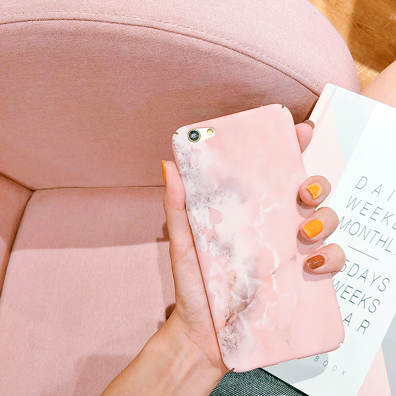 itGirl Shop PASTEL PINK MARBLE IPHONE CASE
