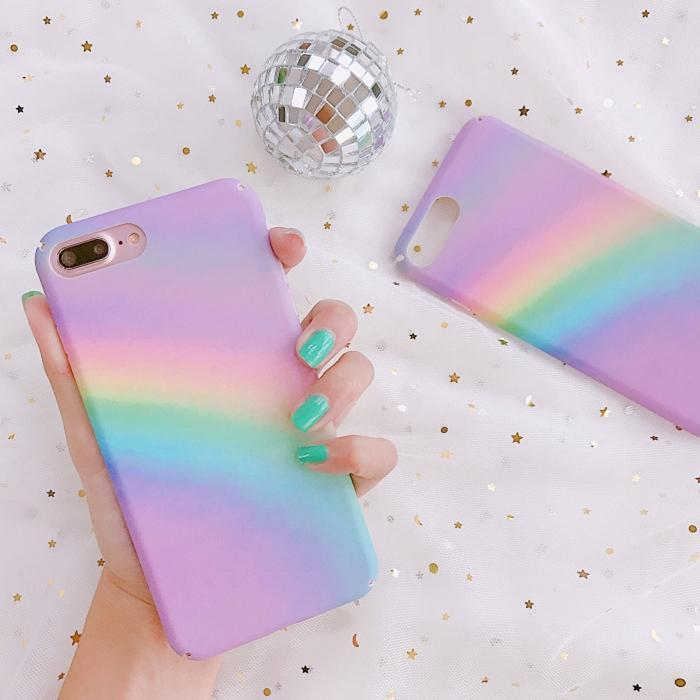 itGirl Shop PASTEL RAINBOW RAY PINK IPHONE COVER Aesthetic Apparel, Tumblr Clothes, Soft Grunge, Pastel goth, Harajuku fashion. Korean and Japan Style looks