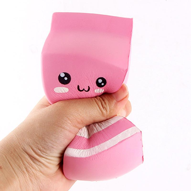 itGirl Shop PINK CUTE MILK BOX SQUISHY SATISFIED RUBBER ANTISTRESS HAND TOY