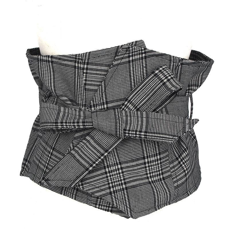 itGirl Shop PLAID ELEGANT WAIST RIBBON COLLEGE STYLE WOMEN BELT