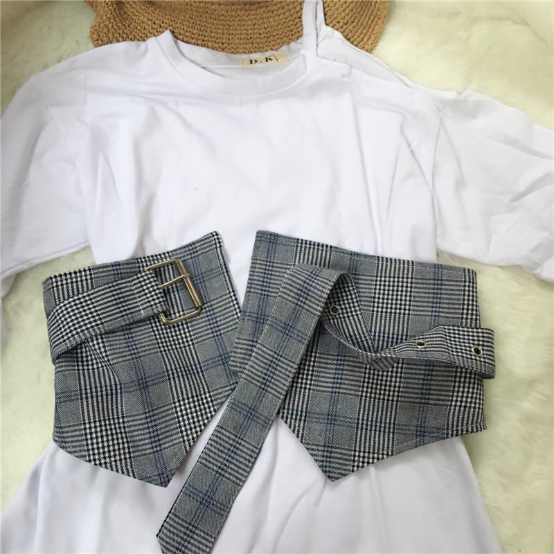 itGirl Shop PLAID SCHOOL STYLE WAIST THICK WOMEN BELT