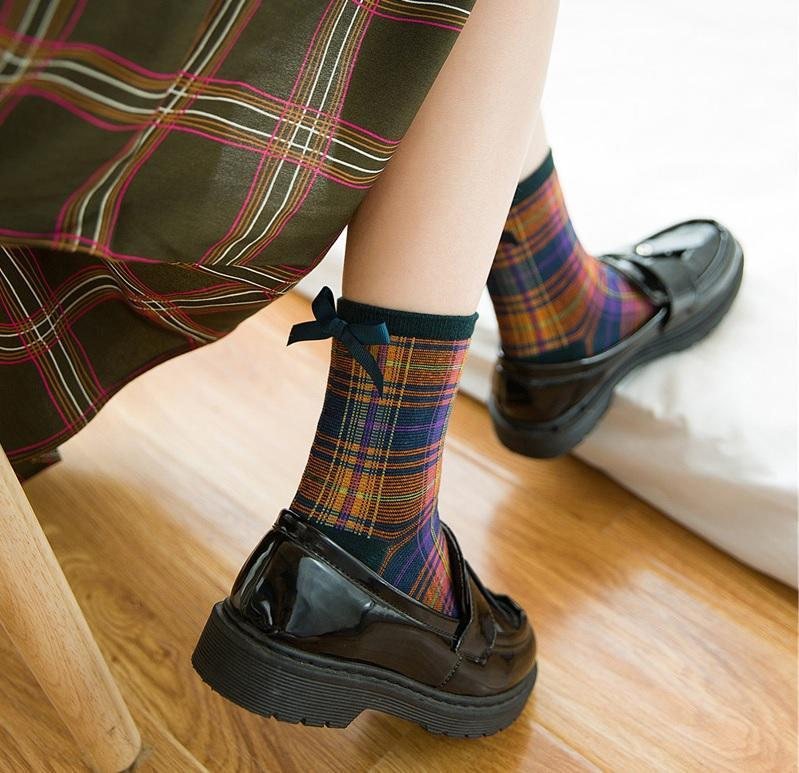 itGirl Shop PLAID TARTAN SCHOOL GIRL ANKLE VINTAGE SOCKS Aesthetic Apparel, Tumblr Clothes, Soft Grunge, Pastel goth, Harajuku fashion. Korean and Japan Style looks