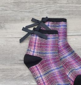 itGirl Shop PLAID TARTAN SCHOOL GIRL ANKLE VINTAGE SOCKS