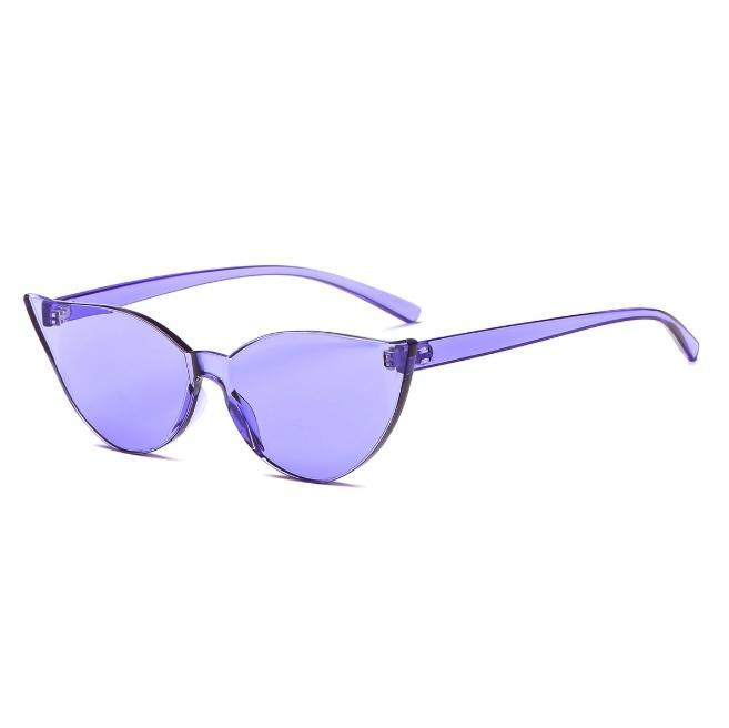 itGirl Shop PLASTIC TRANSPARENT SHARP CORNERS COLORFUL SUNGLASSES