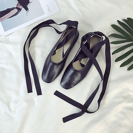 itGirl Shop POINTE BALETTE STYLE PU LEATHER ANKLE BANDAGE FLAT SANDALS Aesthetic Apparel, Tumblr Clothes, Soft Grunge, Pastel goth, Harajuku fashion. Korean and Japan Style looks